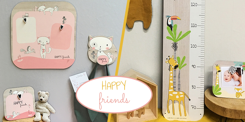Collection enfant : cadeau pour les bébé et enfant : toise, cadre, pêle-mêle, carte étape et patère