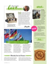 """Our """"Marine"""" picnic basket in Living France magazine"""