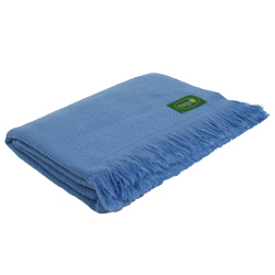 Komfortable Decke aus Kaschmir und Wolle: blau