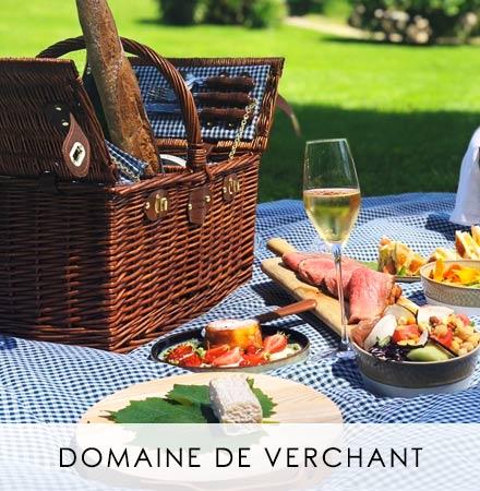 Panier Saint-Germain vichy vert - Domaine de Verchant
