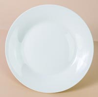 Weiße Teller aus Keramik - 20cm