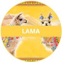 Vaisselle en mélamine - thème lamas