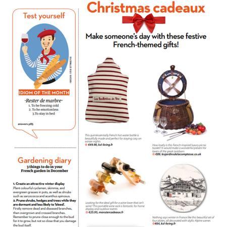 Picnic basket for a christmas gift
