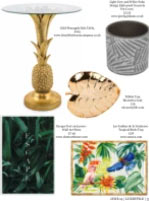 """Our """"Tropical Birds"""" Tray  in Luxestyle magazine"""