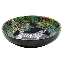 Assiette Creuse en mélamine pure - 20 cm - Jungle