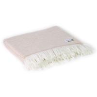 Plaid leggero cashmere e lana motivo grande chevron Cammello