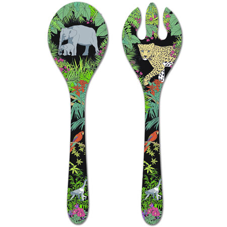 Salad Servers - 100% melamine - 33 cm - Jungle
