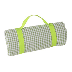 Waterproof picnic green apple gingham (140 x 140 cm)