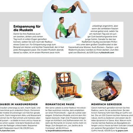 """unser """"Trianon""""-Korb in einem Artikel in der Zeitschrift RAD Touren"""