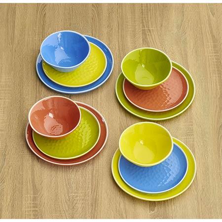 Plat bord van 23 cm van pure melamine - Groen. 2 stukken