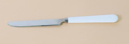 Couteau fin, manche blanc en mélamine