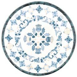 Round Serving Dish - Bamboo-effect rim - 100% melamine - 35,5 cm - Lisbon