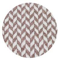 Plaid cachemire et laine petits chevrons Marron Glacé - Plaid Confort