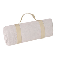 Waterproof picnic blanket beige (140 x 140 cm)