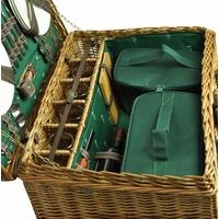 "Picknickkorb ""Champs-Elysées"" aus Weidengeflecht für 6 Personen - Grün"