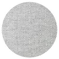 Plaid cachemire et laine Gris Souris - Plaid léger motif diamant