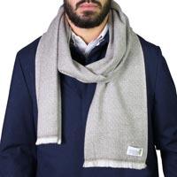 Schal für Männer – kastanienbraun Diamant-Motiv