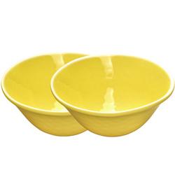 2 boles– Amarillo casi irrompible de melamina pura  2 unidades