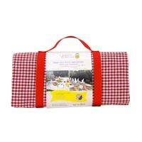 Mantel picnic impermeable vichy rojo / blanco - (140 x 140 cm)