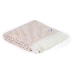 Camel lightweight cashmere and wool throw - 130 x 230 cm