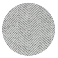 Herringbone throw in cashmere and wool: Mouse grey