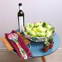 Large Salad Bowl - 100% melamine - 31 cm - Bali's Monkeys