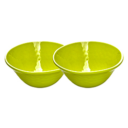Bowl in melamine - Green. 2 pieces