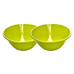 Kom van puur melamine - Groen. 2 stukken