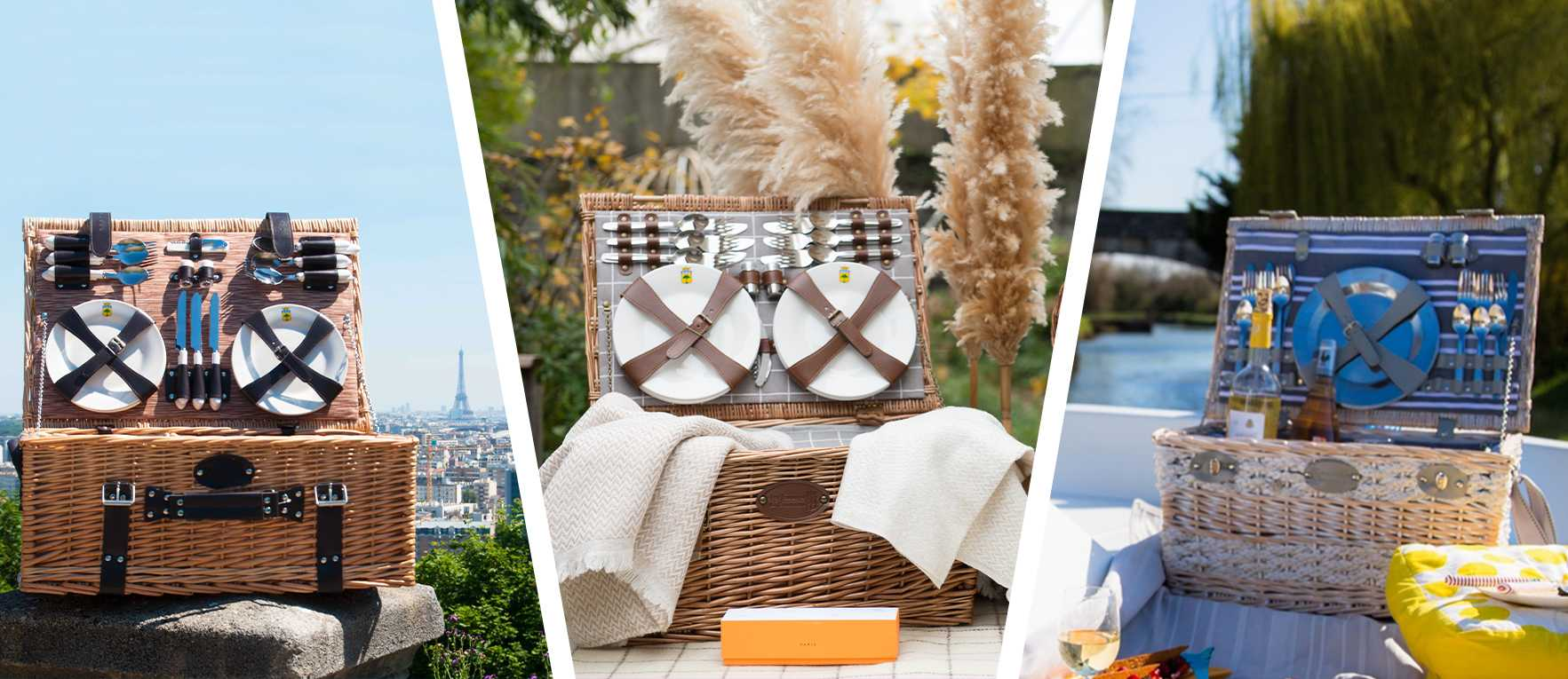 """picnic basket """"Versailles"""" on a boat"""