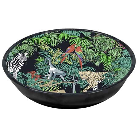 Large Soup / Pasta Plate - 100% melamine - 23 cm - Jungle
