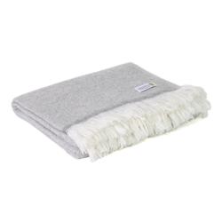 Manta ligera de cachemir y lana con estampado Diamante : Gris Ratón - 130 x 230 cm