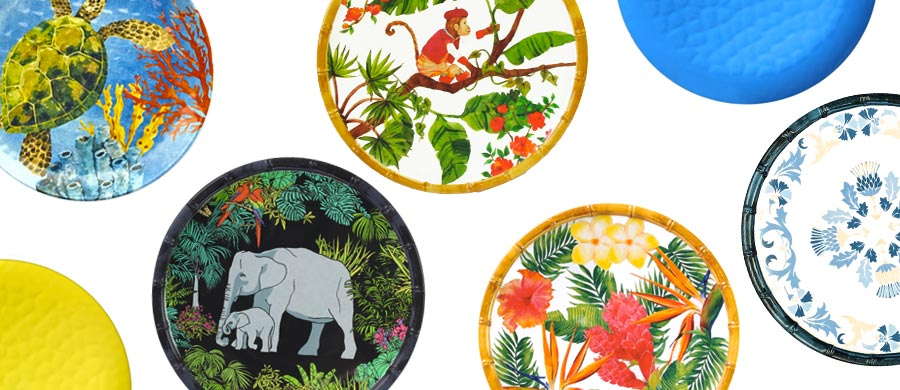 Our smalls plates in melamine (23 cm)