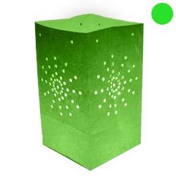 Pack de 10 lanternes de jardin Maya couleur vert anis