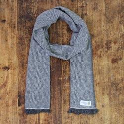 Sciarpa cashmere e lana uomo grigio antracite