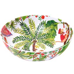 Large Salad Bowl - 100% melamine - 31 cm - Bali's Monkeys