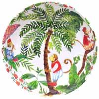 Insalatiera Grande in pura melamina - 31 cm - Scimmie di Bali