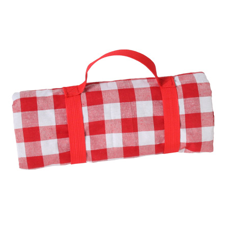 Waterproof picnic blanket red and white (140 x 140 cm)