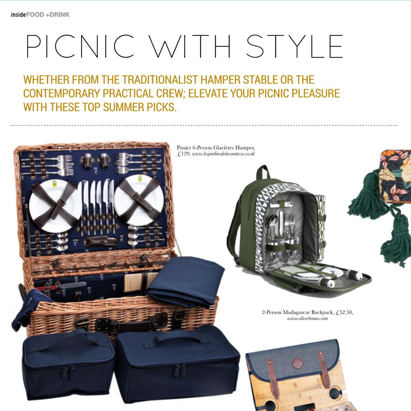 Our new picnic basket Concorde in an article of the people friend's - april 2020