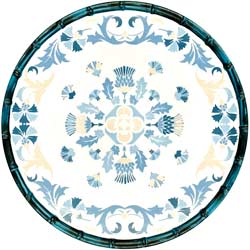 Großer flacher Teller aus reinem Melamin - 28 cm - Lissabon