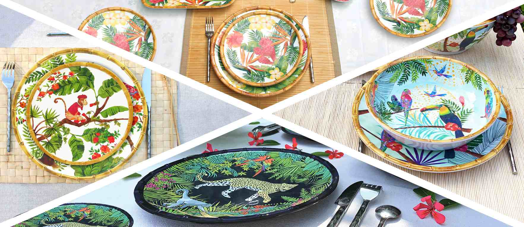 Large Dinner Plate in melamine 27 cm