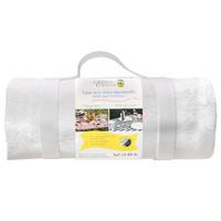 Wit picknicktafelkleed met waterdichte achterzijde (140 x 140 cm)