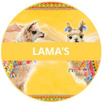 inzameling van melamine serviesgoed Lama's