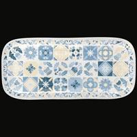 Lange rechthoekige taartschotel - zuiver melamine - 37,5 cm - Lissabon