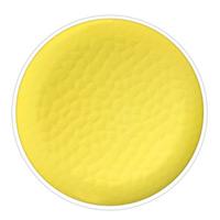 Großer flacher Teller aus reinem Melamin 27 cm - Gelb, 2 Stück