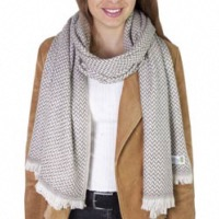 Women's stole/pashmina in Chestnut Herringbone pattern