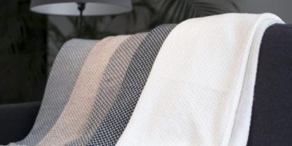 plaid cachemire et laine aux couleurs naturelles - très doux - Les Jardins de la Comtesse