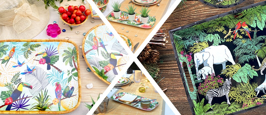 our new collection of dishes in melamine