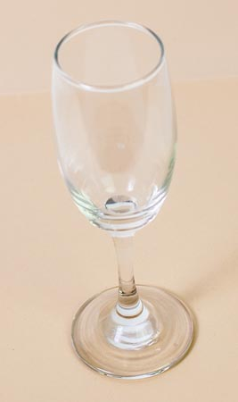 Glas mit Champagner