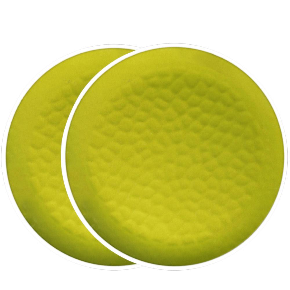 2 Assiettes à dessert en mélamine - United Color Vert - 2 pièces