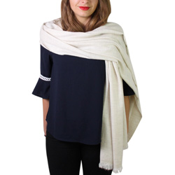 Women's scarf / pashmina in Almond Beige diamond pattern